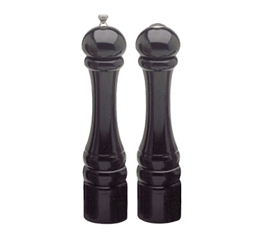 Chef Specialties 10500 Professional Series Imperial Ebony Pepper Mill and Salt Shaker Set, 10""