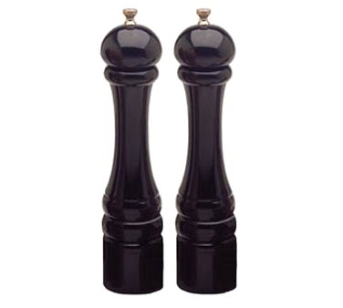 """Chef Specialties 10502 Professional Series Imperial Ebony Pepper Mill and Salt Mill Set, 10"""""""