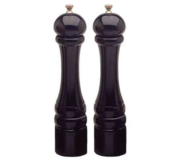 Chef Specialties 10502 Professional Series Imperial Ebony Pepper Mill and Salt Mill Set, 10""