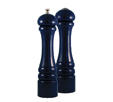 Chef Specialties 10700 Professional Series Autumn Hues Cobalt Blue Pepper Mill and Salt Shaker Set, 10""