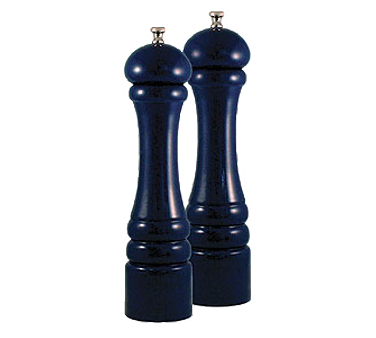 Chef Specialties 10702 Professional Series Autumn Hues Cobalt Blue Pepper Mill and Salt Mill Set, 10""