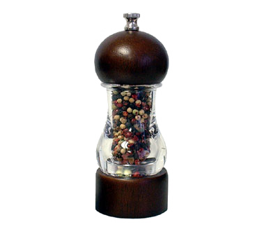 Chef Specialties 29183 Professional Series Vanguard Acrylic and Walnut Pepper Mill, 6""