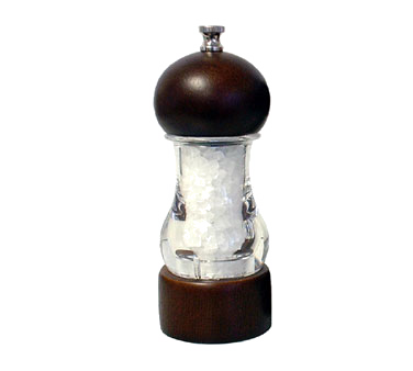 Chef Specialties 29184 Professional Series Vanguard Acrylic and Walnut Salt Mill, 6""