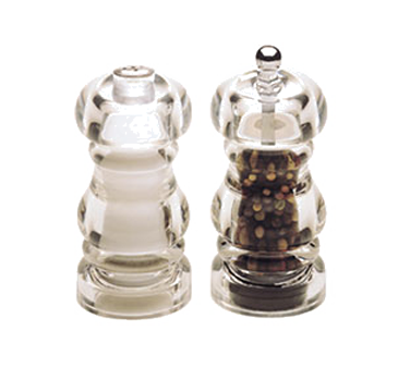 Chef Specialties 29190 Professional Series Laurel Acrylic Pepper Mill and Salt Shaker Set, 5""