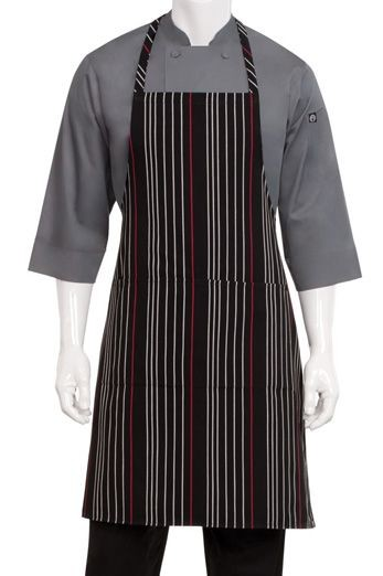Chef Works A550-BWR-0 Striped Bib Apron