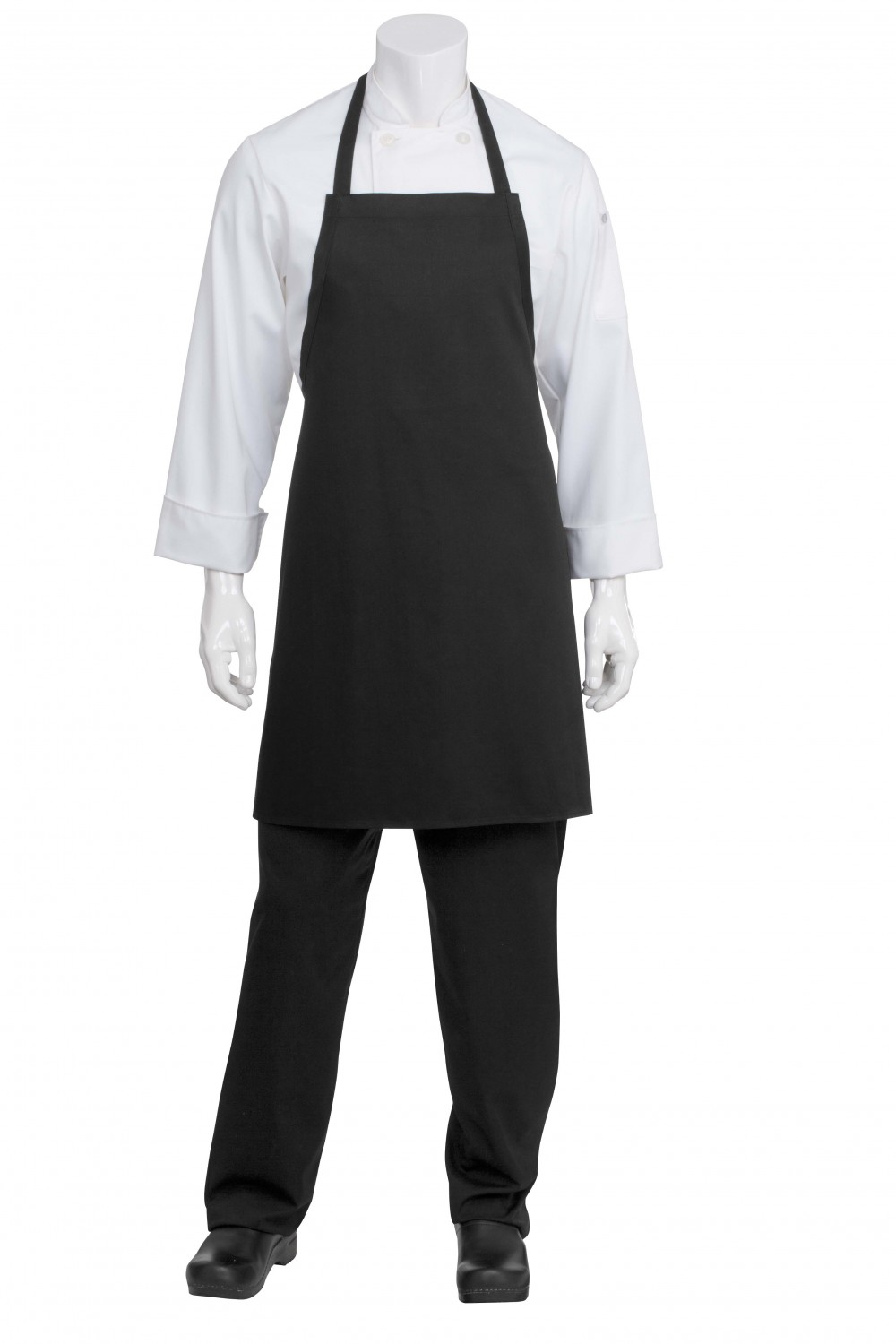 Chef Works APKBL-BLK Black Basic Bib Apron
