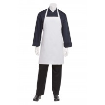 Chef Works APKDC-WHT White Basic Bib Apron