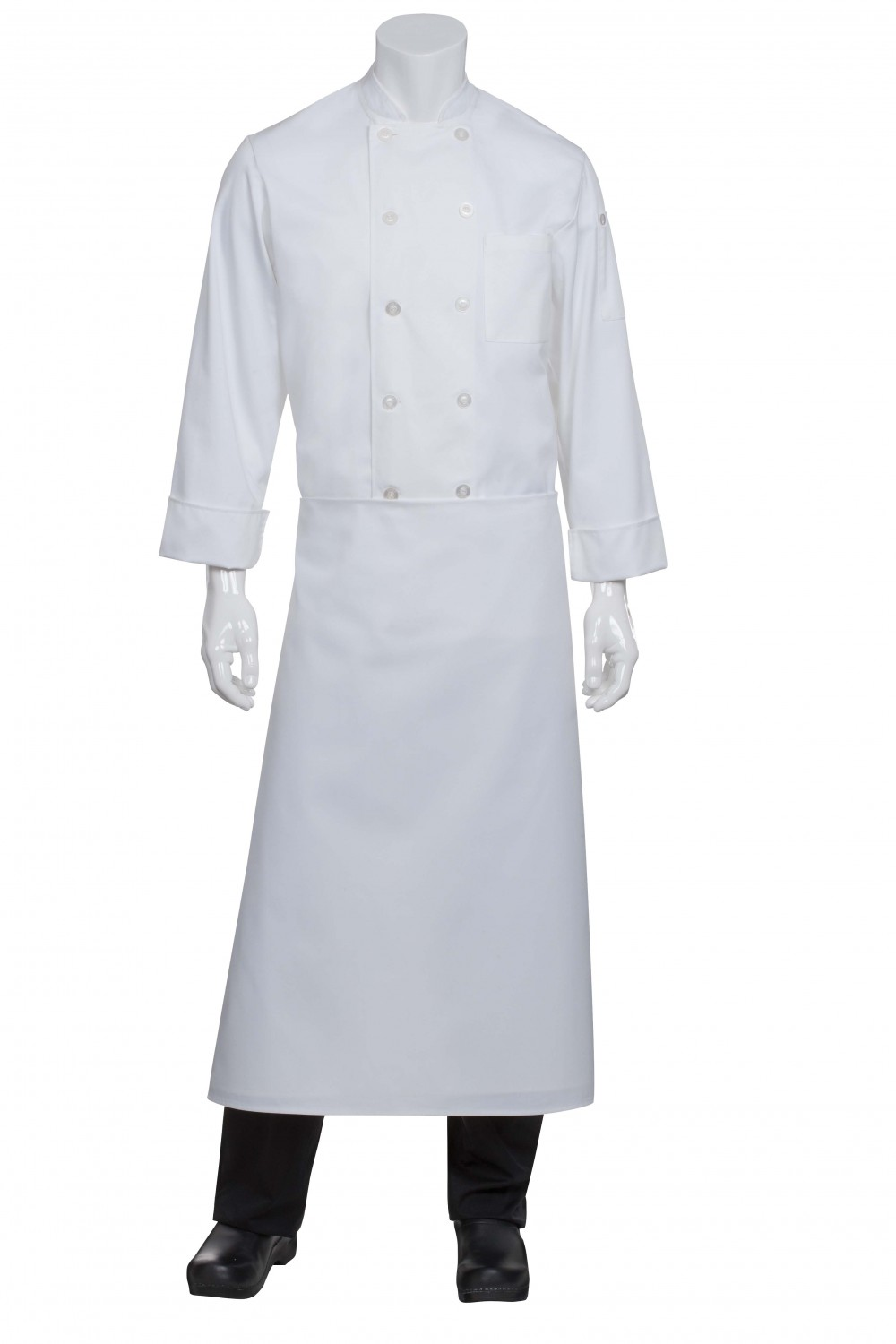 Chef Works B4LG-WHT White Long Four-Way Apron