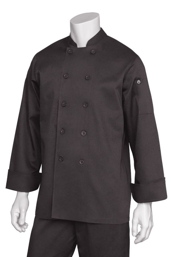 Chef Works BAST Bastille Basic Chef Coat, Black