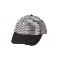 Chef Works BBCH Poly/Cotton Small Check Baseball Cap