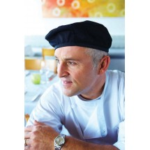 Chef-Works-BEBL-Poly-Cotton-Black-Beret