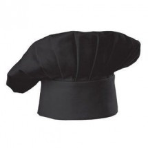 Chef Works BHAT Poly/Cotton Black Chef Hat