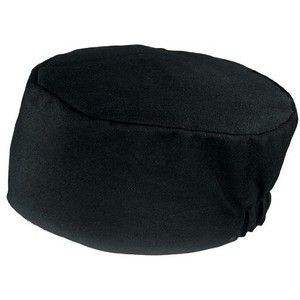 Chef Works BNBK Poly/Cotton Black Basic Skull Cap Beanie