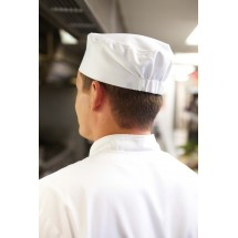 Chef Works BNWH Poly/Cotton White Basic Skull Cap Beanie