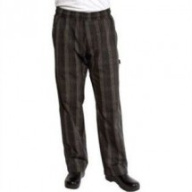 Chef Works BPLD-BLK UltraLux Better Built Baggy Pants, Black Plaid