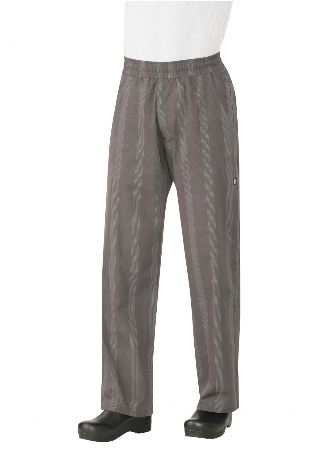 Chef Works BPLD-GRY UltraLux Better Built Baggy Pants, Gray Plaid