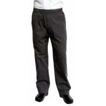 Chef Works BPST-GRY UltraLux Better Built Baggy Pants, Gray Pinstripe