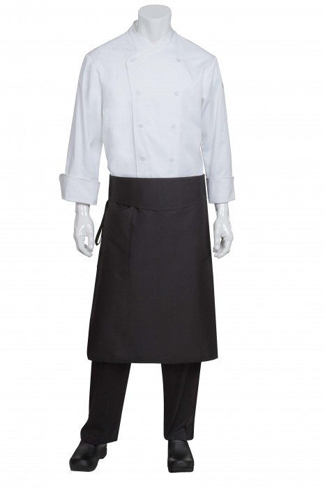 "Chef Works BPTA Black Tapered Chef's Apron, 32""L x 21""W"