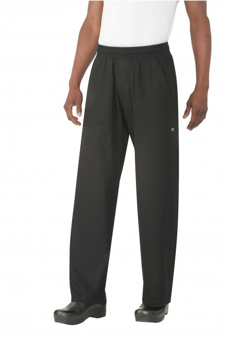 Chef Works BSOL-BLK UltraLux Better Built Baggy Pants, Black
