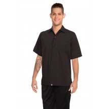 Chef Works C100-BLK Poly/Cotton Cafe Shirt, Black