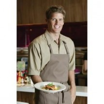 Chef Works C100-KHA Poly/Cotton Cafe Shirt, Khaki