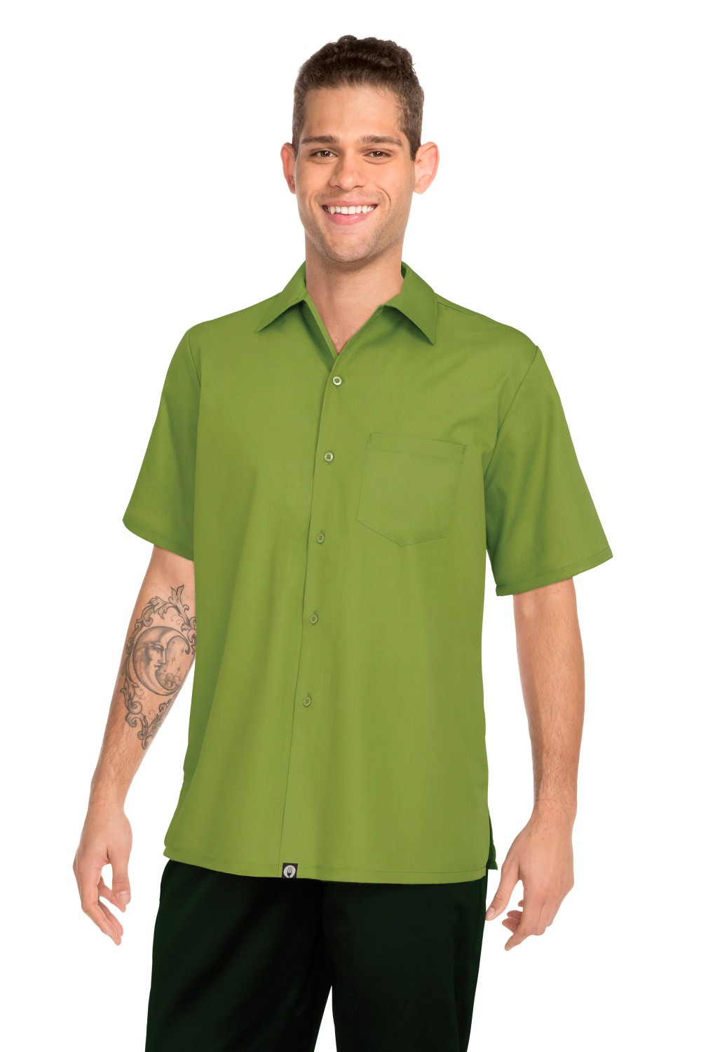 Chef Works C100-LIM Poly/Cotton Cafe Shirt, Lime