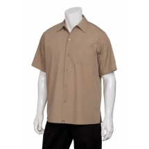 Chef Works C100-MOC Poly/Cotton Cafe Shirt, Mocha