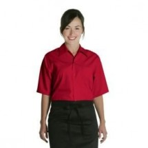 Chef-Works-C100-RED-Red-Cafe-Shirt