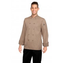 Chef Works CCBA-KHA Cyprus Khaki Basic Chef Coat