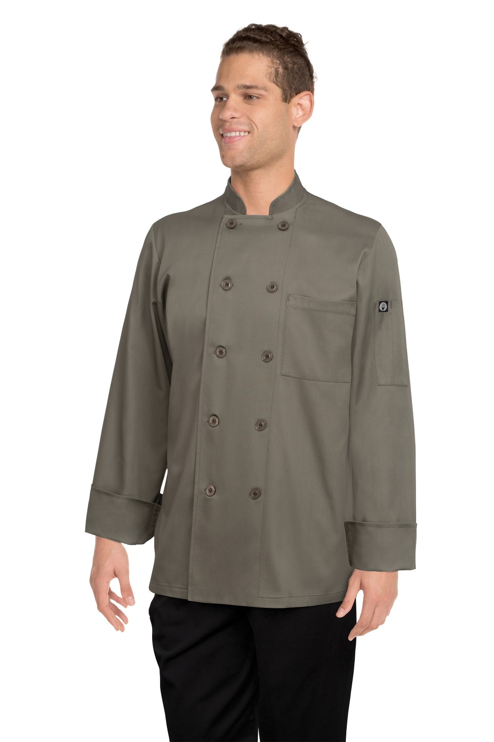 Chef Works CCBA-OLI Perugia Olive Basic Chef Coat