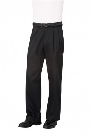 Chef Works CEBP Black Traditional Chef Pants