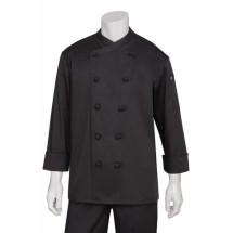 Chef Works COBL Montpellier Basic Chef Coat, Black