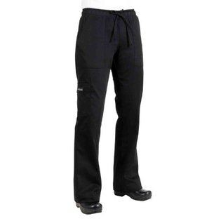 Chef Works CPWO-BLK Women's Cargo Chef Pants, Black