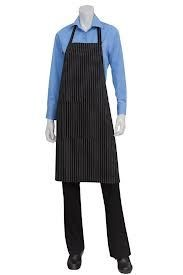 Chef Works CSAA Adjustable Pinstripe Bib Apron