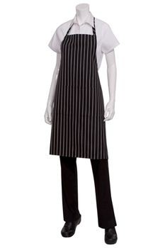 Chef Works CSBA-BCS Chalk Stripe Bib Apron