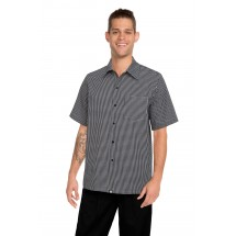 Chef Works CSCK Poly/Cotton Black and White Check Cook Shirt