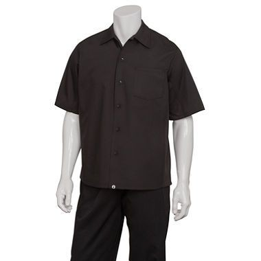 Chef Works CSCV-BLK Cool Vent Cook Shirt, Black