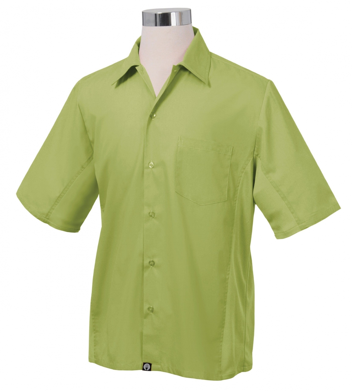 Chef Works CSMV-LIM Men's Cool Vent Universal Shirt, Lime