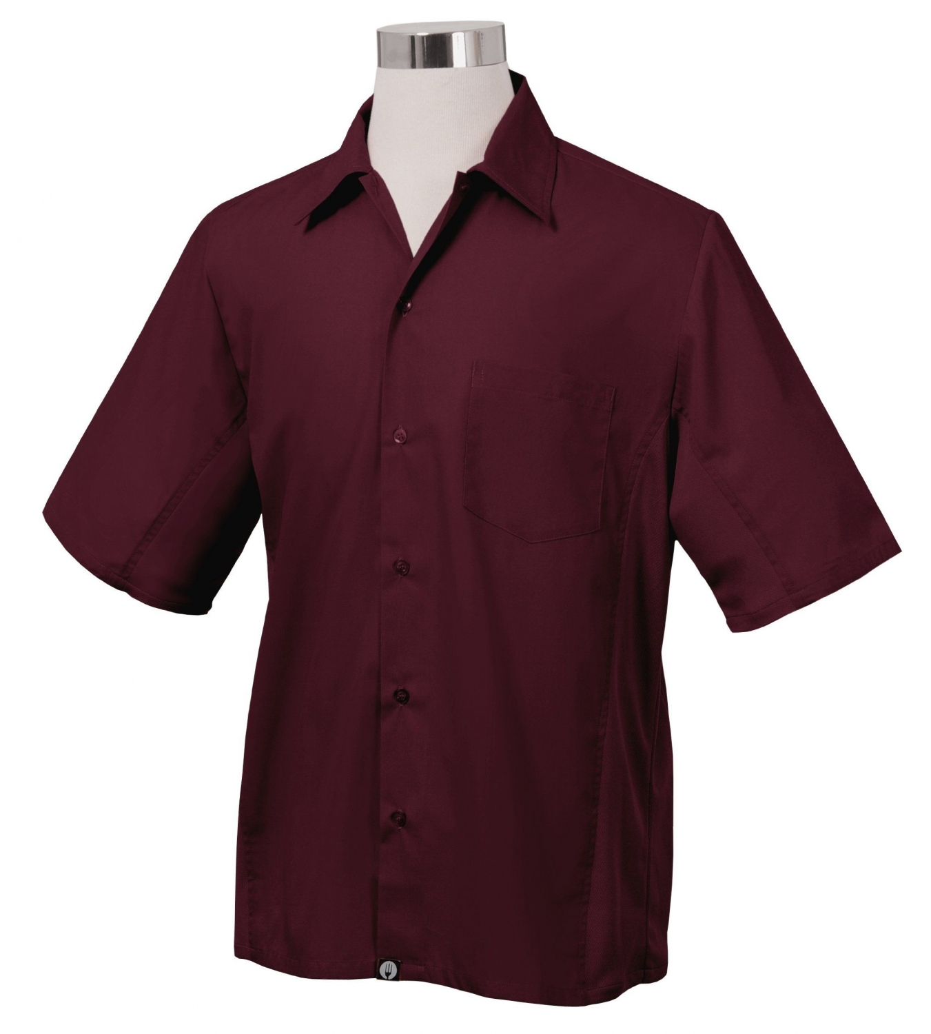 Chef Works CSMV-MER Men's Cool Vent Universal Shirt, Merlot