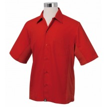 Chef Works CSMV-RED Men's Cool Vent Universal Shirt, Red
