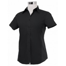 Chef Works CSWV-BLK Universal Cool Vent Women's Black Shirt