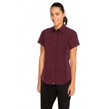 Chef Works CSWV-MER Universal Cool Vent Women's Merlot Shirt