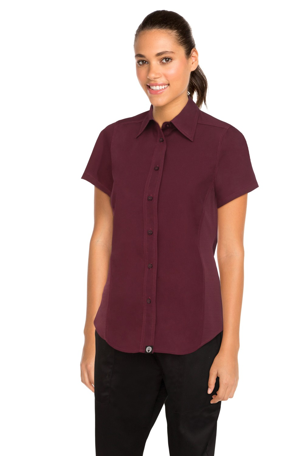 Chef Works CSWV-MER Universal Cool Vent Womens Merlot Shirt