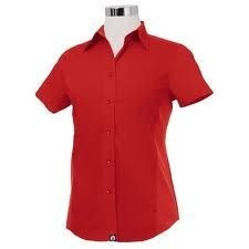 Chef Works CSWV-RED Universal Cool Vent Women's Red Shirt