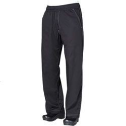 Chef Works CVBP Cool Vent Black Baggy Chef Pants