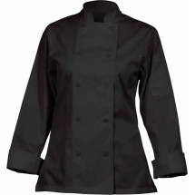 Chef Works CWLJ-BLK Marbella Women's Executive Chef Coat, Black