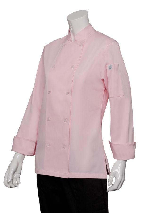 Chef Works CWLJ-PIN Marbella Women's Executive Chef Coat, Pink