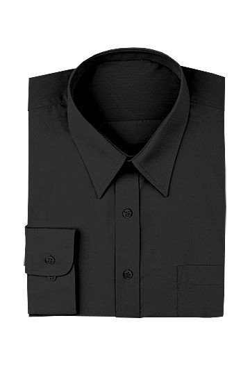 Chef Works D150 Poly/Cotton Men's Dress Shirt, Black