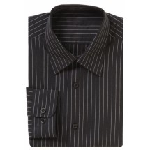 Chef Works D300 Poly/Cotton Classical Men's Pinstripe Shirt