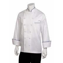 Chef Works ECCA Carlton Egyptian Cotton Chef Coat, White